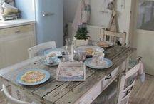 Vintage kitchens / Cocinas estilo retro - Ideas que puedes utilizar en tu Hogar CostaRealty - Más que una Inmobiliaria. web: www.costarealty.com.mx