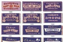 Theme - Chocolate Box /  Rich and velvety purple and white contrast or gold and browns, swirly fonts