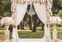 Wedding ceremony/Ceremonia ślubu / dekoracja ślubu w plenerze