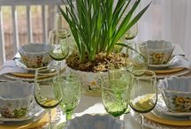 EASTERSCAPES / Love setting a spring table.