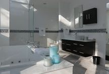 Rev Run's Renovation / Bathroom projects for Miley, Diggy and Russy Simmons designed by Anna Marie Fanelli for the show Rev Run's Renovation as seen on DIY Network and HGTV.