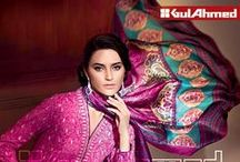 Satin Silk from Cambric Collection 2014 by GulAhmed / The GulAhmed cambric collection is only made with the highest quality of #fabrics with unique #innovative #designs that is best fit for your #fashionable wardrobe! #Online #Orders via www.gulahmedshop.com