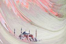İslâmî San'atlar .. / Tezhib, Ebru, Minyatür, Çini ..