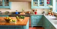 Turquoise kitchens