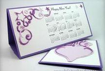 Calendare decorate / Homemade calendars / Calendare decorate quilling si cusute