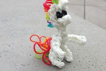 Rainbow loom / All ruber band bracelets and decoration animals here! :)