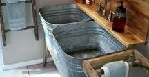 Galvanized Tub Love / TSC galvanized tubs, tanks and buckets do a LOT more than just water livestock (although they do that, too). Check out these awesome DIY and decor ideas using galvanized tubs.
