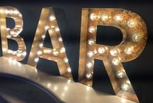 Product: Marquee Letters / Marquee illuminated letters, retro and vintage style signs and cinema light boxes.