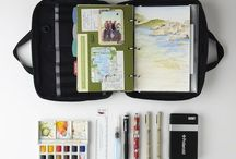Journals / Travel journals, art journals, sketchbooks etc.