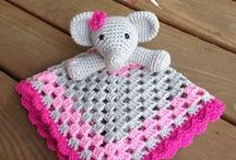 Not only for grannies - Loveys & Security blankets / Crochet for babies