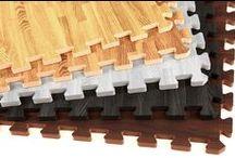Basement Flooring Ideas / Basement flooring ideas for your remodel or home revamp! #softflooring #homereno #homeremodel #foamtiles #foamfloor #rubber #rubberfloor