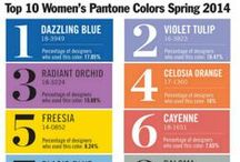 Spring 2014 Colors Trends / Are you ready for #Spring 2014?  Check out our #MazelTovGlass glass products and some of our favorite colors.   The experts at #Pantone announced next year's top colors Radiant Orchid, Dazzling Blue and more!