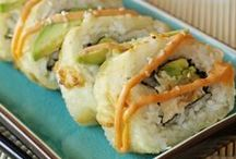 Food: sushi / by Priscilla Hedlin| Wheelchair Mommy