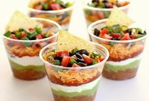 Appetizers & Starters - Party Foods / Recipes for appetizers and little bites. Party foods for easy entertaining. Crab Dip, Crostini, Wings, Queso Fundido, sushi stacks and more.