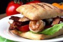 Sandwiches, Burgers and Wraps / Recipes for sandwiches, burgers and wraps. Cheeseburgers, pita wraps, bacon, pulled pork sandwiches, veggie sandwiches, hamburgers, shrimp BLT, meatball subs, sliders