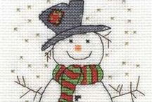 Natal - Ponto cruz / Temas de Natal em Ponto Cruz