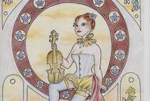 """Ceux du mercure - Illustrations / Personnages et croquis de mon roman steampunk """"Ceux du mercure"""""""