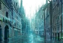 La perle d'ambre - Arki / Arki est une ville fantasy, similaire à Venise car construite en empiétant sur la mer.   Arki is a fantasy town, similar to Venice as it was built half on the sea