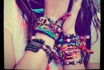 Bracelets, rings, necklaces & pins