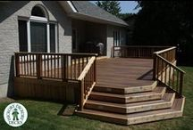 Outdoor Living Space, Decks, Composite Decking / Do you see the deck of your dreams when you look out your back door? Tri County Exterior's team of deck installers can improve the look and overall quality of your backyard. We have been building amazingly beautiful decks for years. #HomeImprovement #Decking #Decks