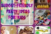 Kid Party FUN / The planning getting serious? Budget-friendly, diy ideas that are  creative and entertaining.  ShareFood, Games, Themes, Party Ideas!