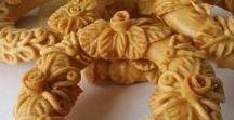 pastries, desserts, traditional sweets / Sweets, kourabie, galaktoboureko, cadaifi, amygdalota, chocolates, macarons, honey, ice cream, wedding bread
