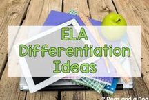Differentiated ELA Instruction in High School / Ideas and resources to differentiate lessons in high school ELA and engage students at every level--from gifted to struggling, ESE and ESOL.  Pin as much as you like, but please maintain integrity of board and any delete repeat pins. Re-pins welcome! Thanks!