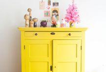 Vintage furniture / Vintage furniture heaven... these colours!