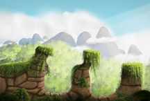 My art / Game art, matte painting, game assets, digital painting, game environments, game design.