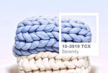 Pantone Serenity Knits / Share your Pantone Serenity shaded knitting and crochet projects and colour inspiration with us! Here are a few of our serene visions...