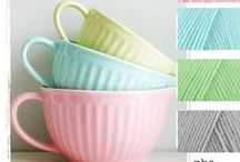 Yummy Yarns / Yarns we want t knit and crochet with... and play around with for hours and hours
