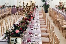 81Events lux weddings / Amazing venues, trendy & warm table settings where flowers & lighting are the signature