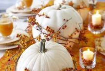 Thanksgiving Table Settings / Inspiration for decorating your Thanksgiving table in styles from modern to elegant. Centerpieces, flatware, china, napkins, and more.