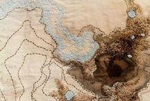 ´ texturas ` / bordados e trabalho em tecido