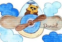 Cuadros bebe dibujos infantiles / Cuadros bebe de dibujos infantiles especiales para niños, pintados a mano con pintura y acuarela, para la habitación o cuarto de los más pequeños de la casa para decorar el espacio de las niños con dibujos infantiles enmarcados