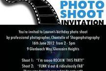 Invitation Designs / I love designing birthday invitations that are unique and specific to the occasion.
