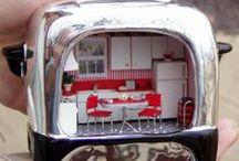 mini kitchen / lovely miniature kitchen and full sized inspiration