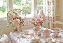 tea time / beautiful tea items and miniatures
