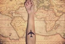 Travel related tattoos ♥ / ♥