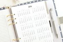 Calender / Calender inserts for filofax and other practical things :)