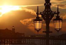 Antique lanterns, street lamps