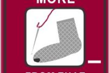 """Holey socks! / Projects that will complete level 2 of the """"MORE FROM THAT"""" quest to darn that hole in your holey socks (or upcycle it in some way) http://www.worldchanging.me/pollution-and-waste/more-from-that/level-2"""