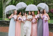 Bridesmaids / Lovely bridesmaid gowns and style concepts