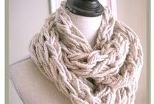 Pletení-šály a nákrčníky