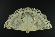 Fans / Beautiful Fans from all over the world made with mother-of-pearl, ivory and tortoiseshell. Most of them carved, gilded, silvered and with beautiful painted leafs with refined works of art.
