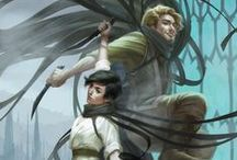 Mistborn / By Brandon Sanderson, this amazing and magical series is just perfect. Period.