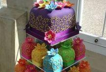 Fondant Cakes & mini cake