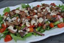 Salads / A selection of Chocolate Goose seasonal salads.