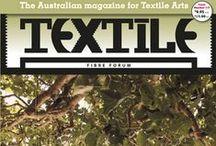 TEXTILE Fibre Forum Issue 115 / Don't miss this great issue of Textile Fibre Forum magazine!  www.artwearpublications.com.au