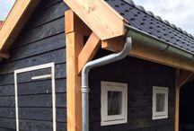 Douglas houten maatwerk kapschuur www.uwverandaspecialist.nl / Het hele jaar door genieten van het buitenleven. www.uwverandaspecialist.nl